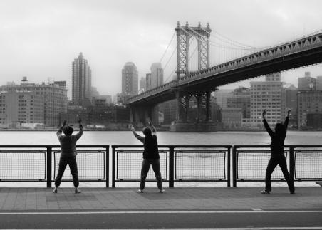 manhattan bridge, nyc photo, chi gong, tai chi