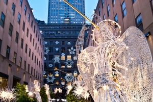 christmas in new york, rockefeller center angels, christmas decorations, 30 rock angels
