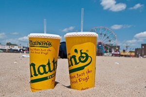 Nathans hot dogs, coney island, ferris wheel, beach, new york city