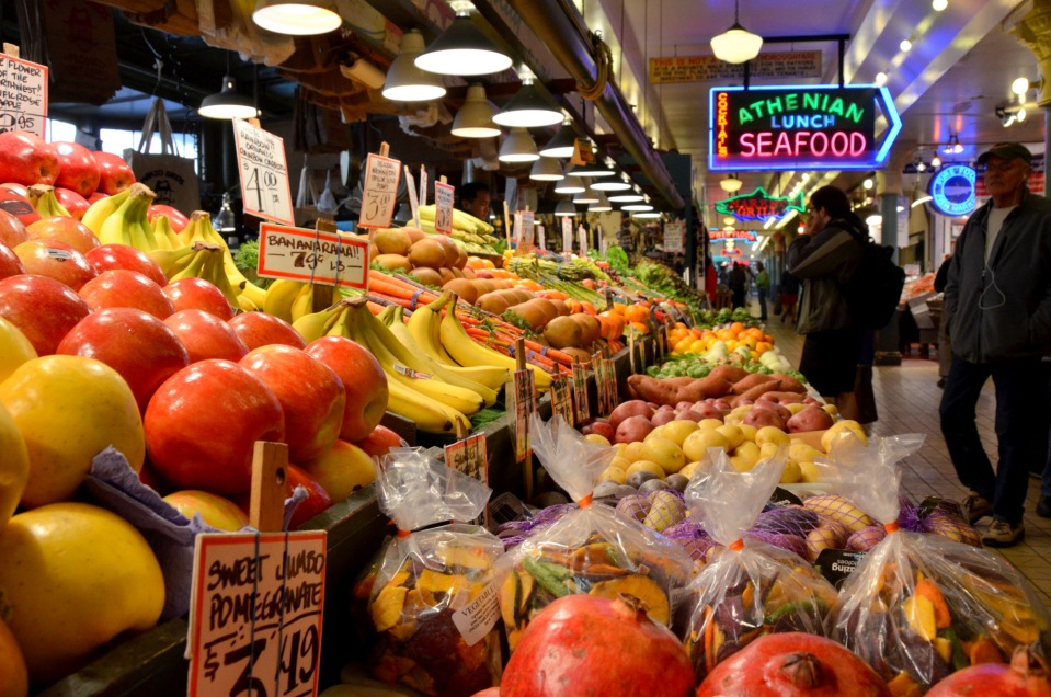 Seattle Pike Place Market Fruit Apples