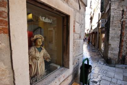 Narrow streets split croatia