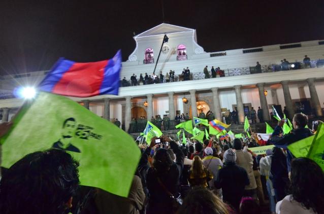 Quito Ecuador Election Rafael Correa Independence Square