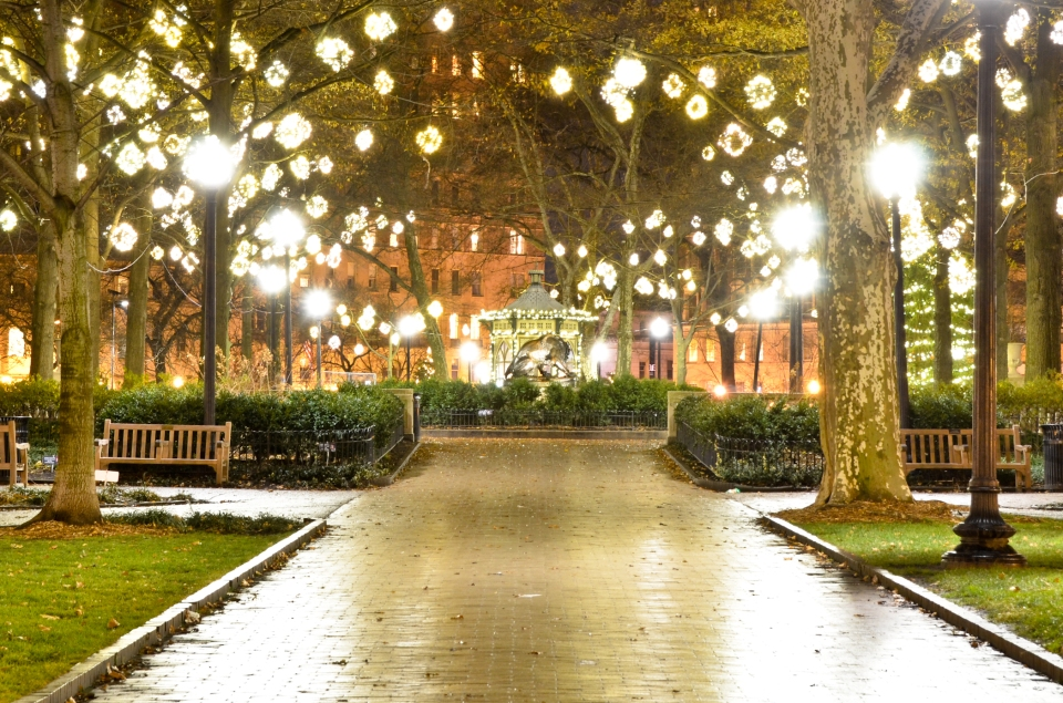 rittenhouse square, philadelphia, philly, city night