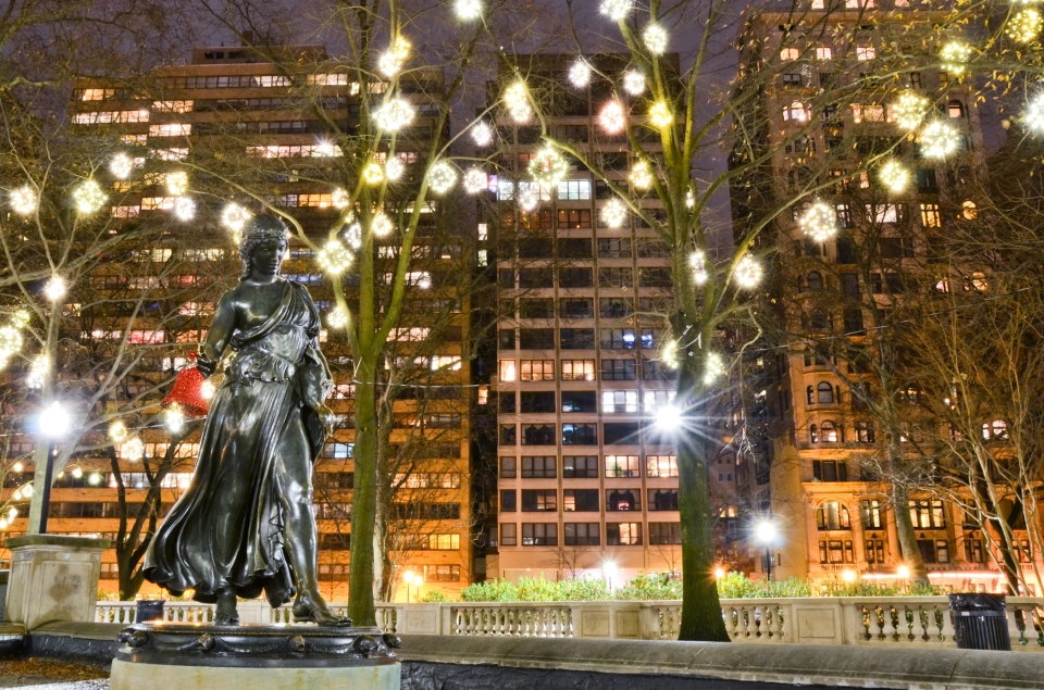 Rittenhouse Square statue, city, philly parks, philadelphia