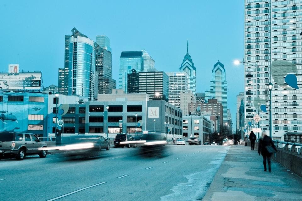 Philadelphia Market Street Dusk
