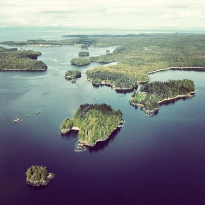 Inside Passage British Columbia, islands, trees, pacific northwest